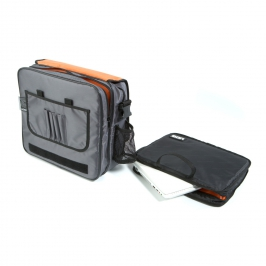 Ultimate CourierBag DeLuxe Steel Grey, Orange