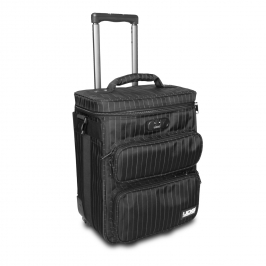 Ultimate Trolley To Go Black/Grey Stripe