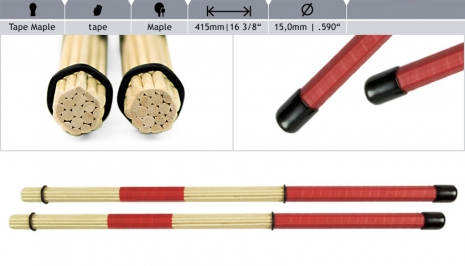 Tape Rods Maple